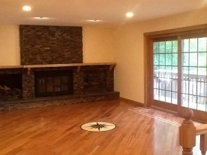 Ann Arbor hardwood floors refinishing finished floor with decorating star