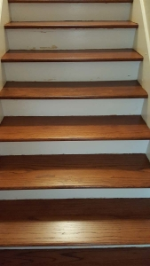 Michigan hardwood floor, wooden steps, Ann Arbor